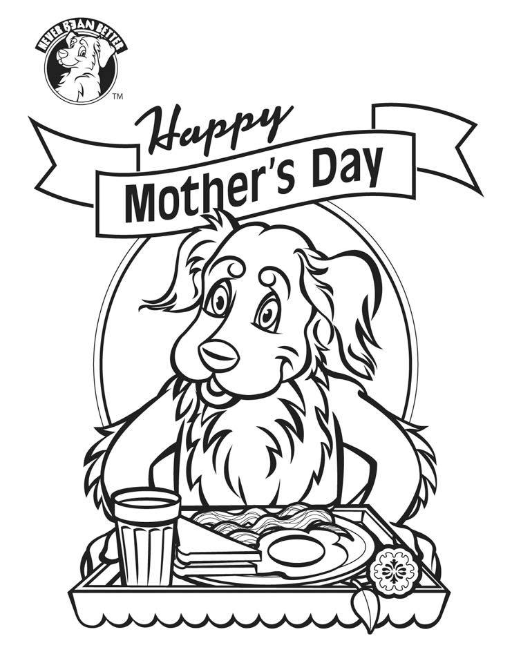 Bean Mother's Day Cartoon to print and color